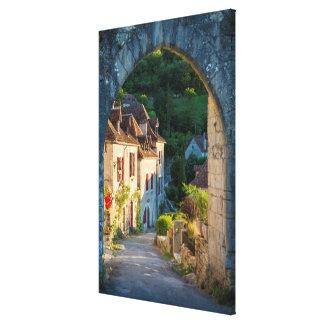 Impressão Em Tela Casas ao longo de uma rua, France