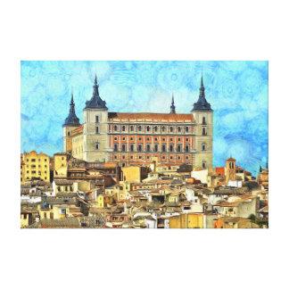 Impressão Em Tela Castelo do Alcazar em Toledo.