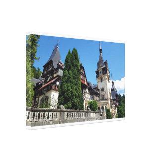 Impressão Em Tela Castelo real famoso Peles em Sinaia, Romania.