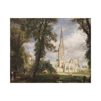Impressão Em Tela Catedral de Frick Salisbúria do jardim dos bishops