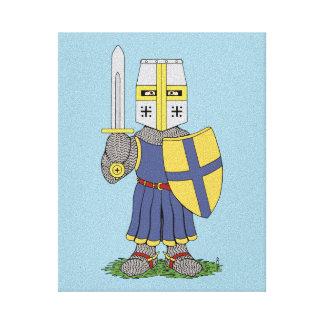 Impressão Em Tela Cavaleiro medieval bonito