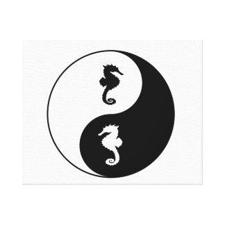Impressão Em Tela Cavalo marinho de Yin Yang