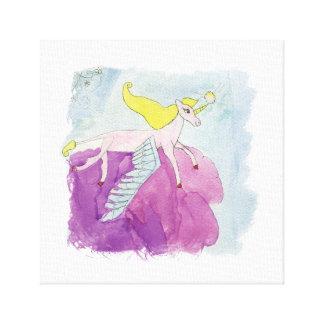 Impressão Em Tela Cavalo voado pônei de Alicorn da aguarela