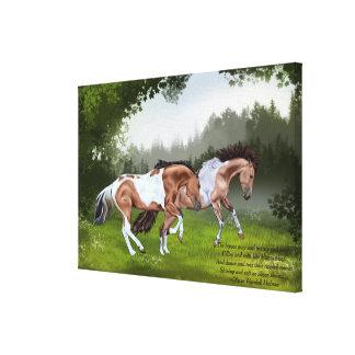 Impressão Em Tela Cavalos da pintura de Tobiano do Buckskin