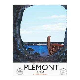 Impressão Em Tela Cavernas de Plémont, poster das viagens vintage do