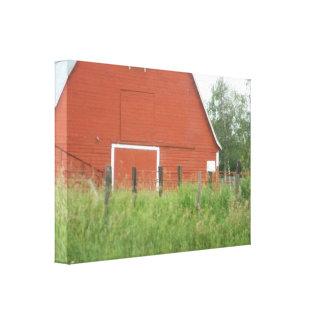 Impressão Em Tela Celeiro vermelho grande