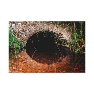 Impressão Em Tela Céltico irlandês ponte velha escondida sobre o