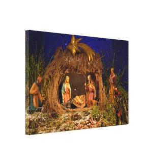 Impressão Em Tela Cena da natividade