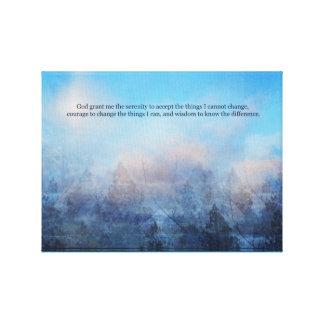 Impressão Em Tela Céu da oração da serenidade e abstrato das árvores