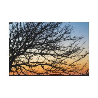 Impressão Em Tela Céu do inclinação no inverno