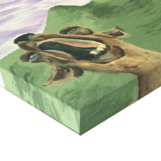 Impressão Em Tela Chamada do lama