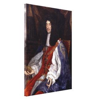 Impressão Em Tela Charles II de Grâ Bretanha e de Ireland