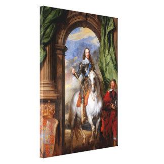 Impressão Em Tela Charles mim a cavalo por Van Dyck
