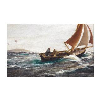 Impressão Em Tela Charles Napier Hemy com vento e maré