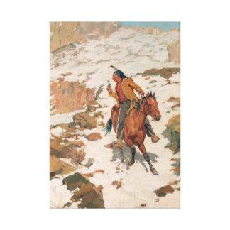 Impressão Em Tela Charles Schreyvogel na perseguição quente