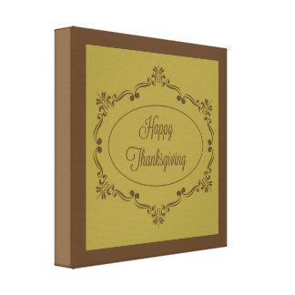 Impressão Em Tela Chocolate e azeitona felizes da acção de graças