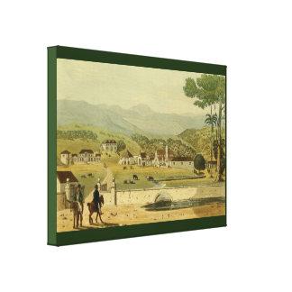 Impressão Em Tela Cidade colonial de Jamaica do vintage de Montego