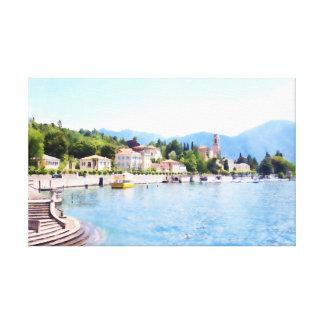 Impressão Em Tela Cidade pelo lago