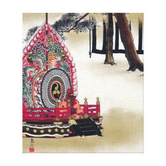 Impressão Em Tela Cilindro de Shibata Zeshin para a dança de Gagaku