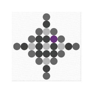 Impressão Em Tela Cinzento + Arte geométrica roxa