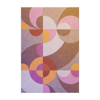Impressão Em Tela Círculos retros abstratos geométricos em cores