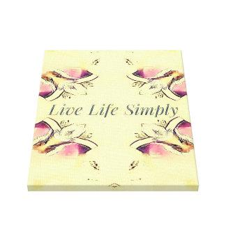 Impressão Em Tela Citações bonito do estilo de vida do rosa amarelo