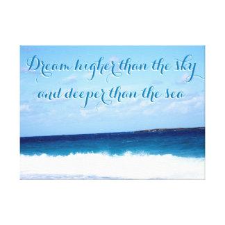 Impressão Em Tela Citações da motivação no oceano