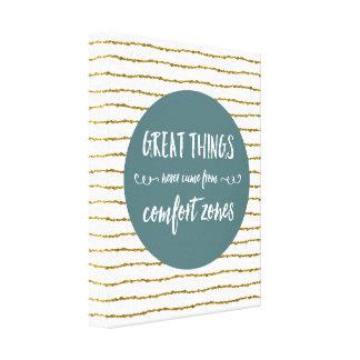 Impressão Em Tela Citações das zonas de conforto