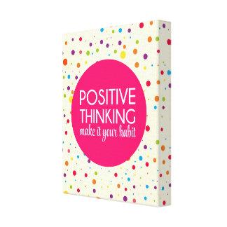 Impressão Em Tela Citações de pensamento positivas