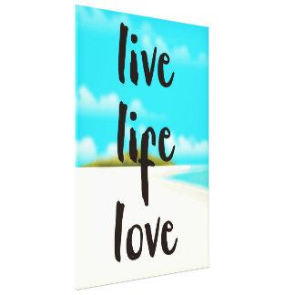 Impressão Em Tela Citações inspiradas do amor vivo da vida
