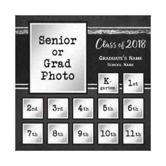 Impressão Em Tela Classe de lembrança da foto 2018 K-12
