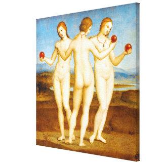 Impressão Em Tela Clássico restaurado de Raphael a pintura de três