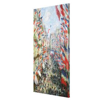 Impressão Em Tela Claude Monet | a rua Montorgueil, Paris