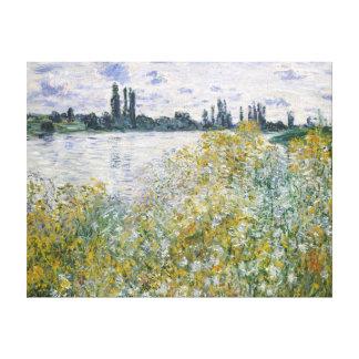 Impressão Em Tela Claude Monet Île Fleurs auxiliar perto de Vétheuil