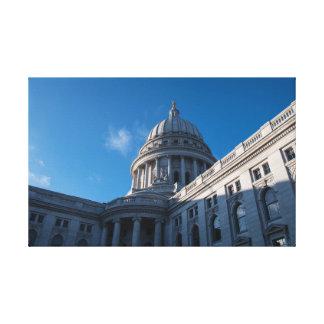 Impressão Em Tela Close up do Capitólio do estado de Wisconsin