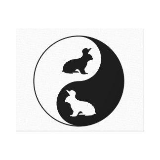 Impressão Em Tela Coelhos de Yin Yang