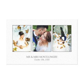 Impressão Em Tela Colagem bonita da foto do casamento