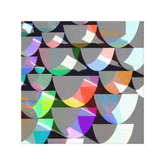 Impressão Em Tela Colagem colorida retro da forma