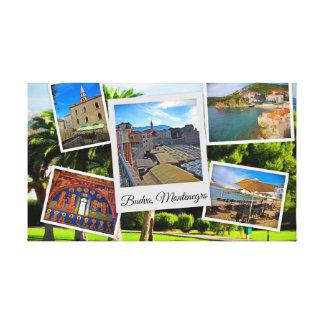 Impressão Em Tela Colagem de Budva Montenegro