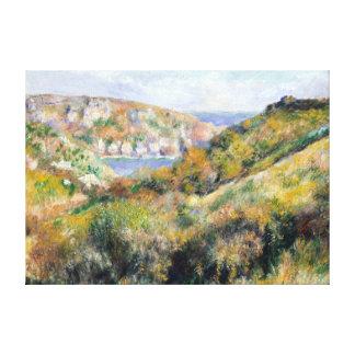 Impressão Em Tela Colinas de Renoir em torno da baía de Moulin Huet