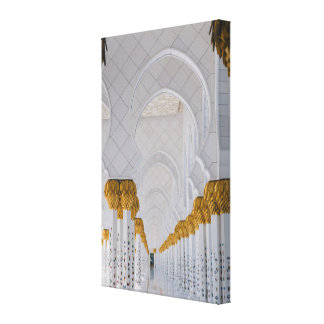 Impressão Em Tela Colunas do Sheikh Zayed Grande Mesquita, Abu Dhabi