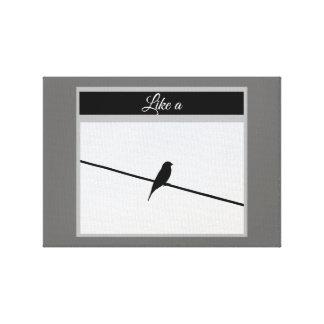 Impressão Em Tela Como um pássaro em um fio - Leonard Cohen