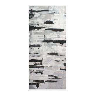 Impressão Em Tela composição branco-negra abstractamente