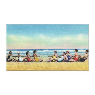 Impressão Em Tela Conflito do vintage na praia