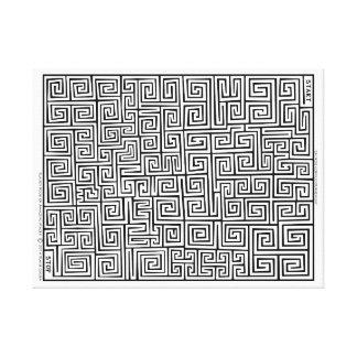 Impressão Em Tela Confucionismo chinês mim labirinto por Blaise