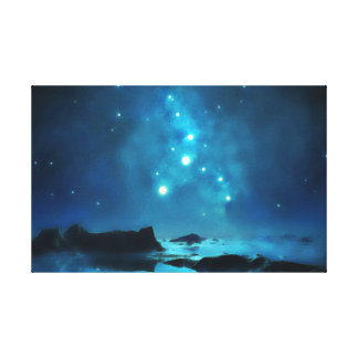 Impressão Em Tela Conjunto de estrela azul do céu nocturno