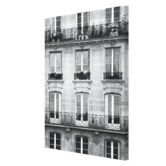 Impressão Em Tela Construção preto e branco do vintage do viagem |