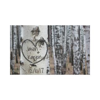 Impressão Em Tela Coração cinzelado rústico personalizado do país