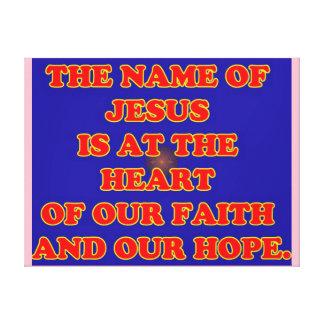 Impressão Em Tela Coração de nossas fé e esperança: O Jesus