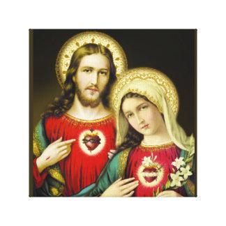 Impressão Em Tela Coração imaculado sagrado Mary de Jesus